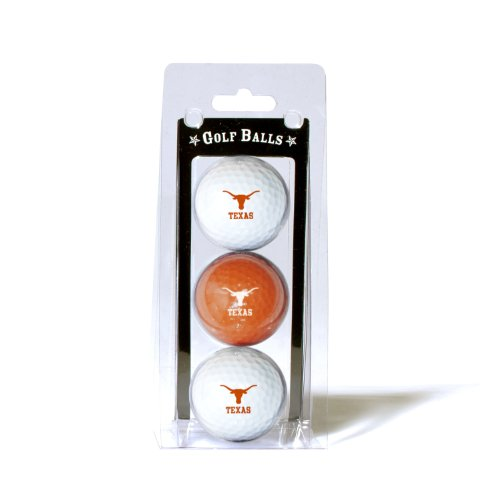 - Team Golf NCAA Texas Longhorns Regulation Size Golf Balls, 3 Pack, Full Color Durable Team Imprint