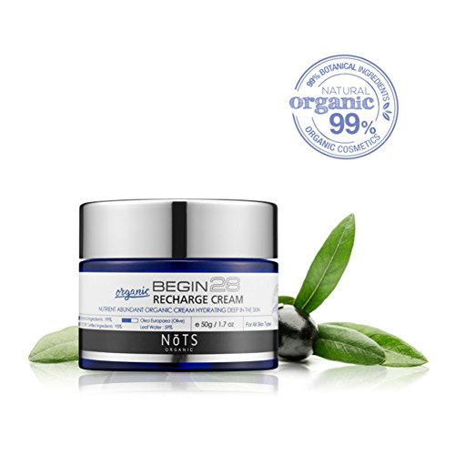 All Natural Recharge Cream - Olive Leaf Extract - Argan Oil - Shea Butter - Hydrating Deep in Skin with Rich and Nourish Nutrient by Korea