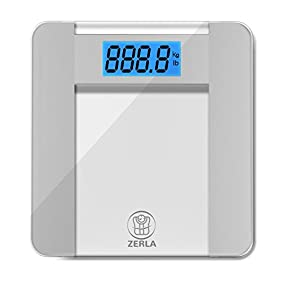 ZERLA Digital Bathroom Scale - Highly Accurate Digital Scale with Large 4.5