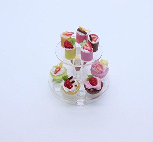Mini Bakery Cake Dessert Wedding Display Dollhouse Miniature Handmade Food Supply Set 2
