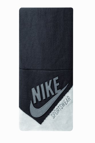 Nike Nsw Logo Knit Scarf (Anthracite/Wolf Grey/White, Osfm)