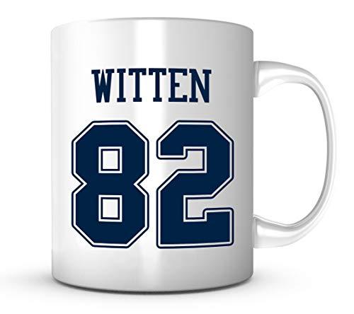 Jason Witten Mug - Jersey Number Football Coffee Cup ()