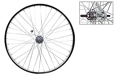 Wheel Master Rear Bicycle Wheel with Coaster Brake, 24 x 1.75, 36H, Steel, Bolt On, Silver