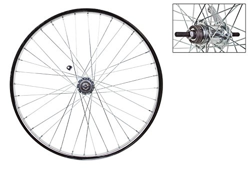 Wheel Master Rear Bicycle Wheel with Coaster Brake, 24 x 1.75, 36H, Steel, Bolt On, Silver by WheelMaster