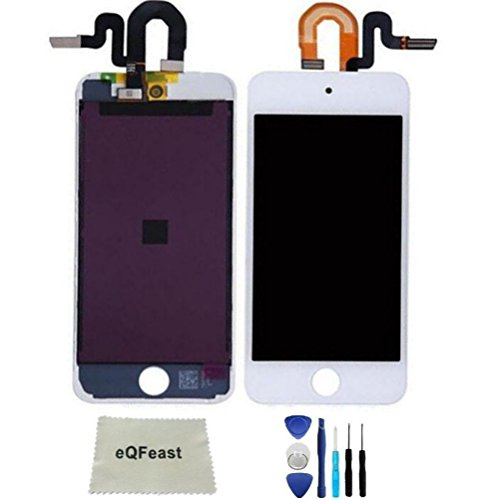 eQFeast For iPod Touch 5 (5th Gen) Display Replacement LCD Screen Front Glass Digitizer Assembly White