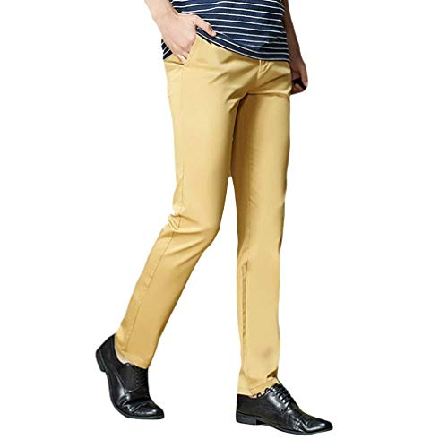 Waist 3 Comfortable Solid Skinny Bild Pants Slim Trousers Color Fit High Men Young Fashion Als Casual Bag Chino Cargo 0qUF7