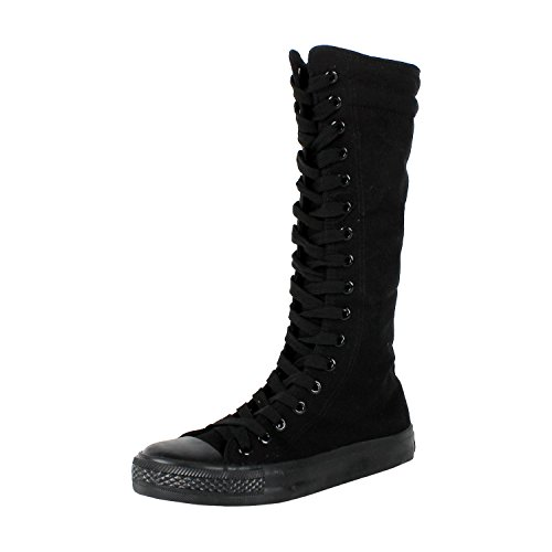 West Blvd 501-W Sneaker Boots, Black Canvas, 6