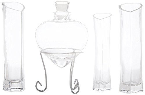 Sand Ceremony Bottle (Heart Shaped Sand Ceremony Set (Glass) Includes 7