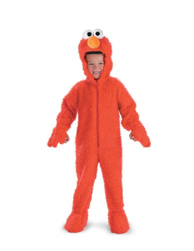 [Elmo Deluxe Plush - Size: 3T-4T] (Sesame Street Costumes For Babies)