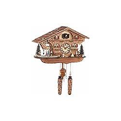 Quartz Cuckoo Clock Swiss house with music, turning dancers, incl. batteries TU 476 QMT HZZG