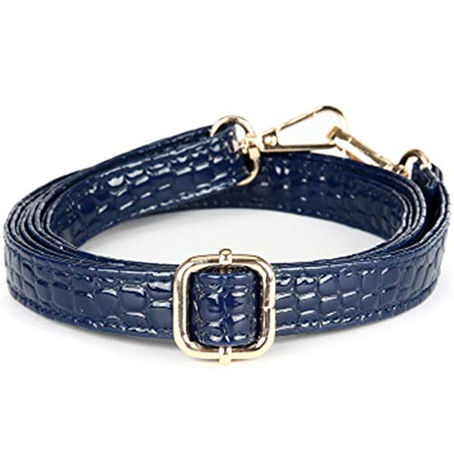 0a3042401abe 58inch Crocodile Lines Style Adjustable PU Leather Strap Wide 2cm with  Golden Hardware Women Purse Bag Handles Shoulder Straps Replacement (Blue)