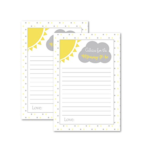 You Are My Sunshine Advice Cards Pack of 50 for Baby Shower Gender Reveal New Mom Dad Wishes Neutral ()