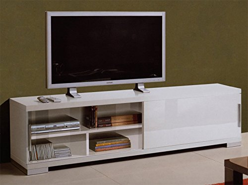 ESF ALF Capri High Gloss White Lacquer Entertainment Center Made in Italy ()