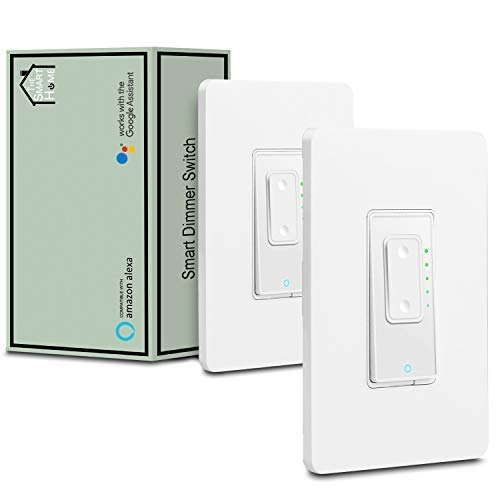 3 Way Smart Switch Dimmer by Martin Jerry | SmartLife App, Mains Dimming (TRIAC) ONLY, compatible with Alexa as WiFi Light Switch Dimmer, 3-way, Works with Google ()