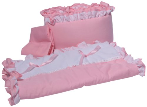 Babyoll Bedding Regal Neutral Mini Crib/Portable/Port-a-Crib Bedding Set for boy and Girly, - Crib Dot Minky Bedding