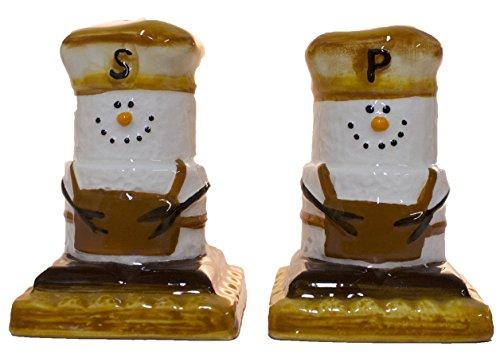 SMores Treats Campground Favorite Salt and Pepper Shaker Set Earthenware Earthenware Salt And Pepper Set