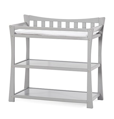 Child Craft Parisian Changing Table with Pad, Cool Gray ()