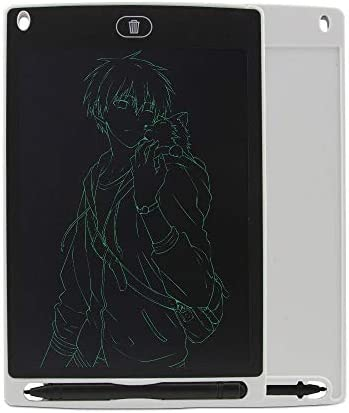 LKJASDHL 8.5インチ液晶タブレット子供の描画ボードライトボード小さな黒板手描きボード液晶ライティングタブレット (色 : ホワイト)