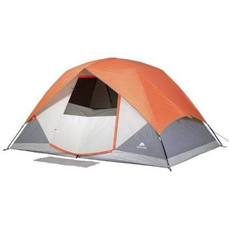 Ozark Trail WT161208 Dome Tent, Sleeps 6 Person, 12′ x 8′, With Roll Back Fly and Windows, Camping, Outdoor