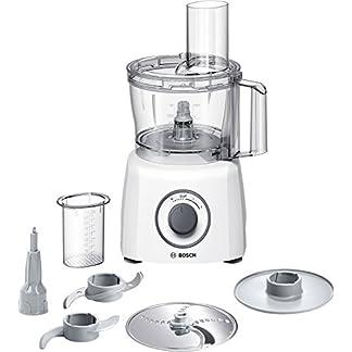 Bosch MCM3100W Kompakt-Küchenmaschine, 800 W, 2,3 L, SmartStorage, weiß / grau 9