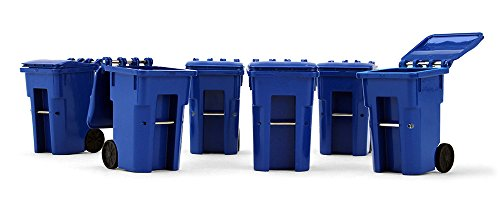 e Plastic Collectible Blue Trash Carts - Set of Six Carts (#90-0518) (1st Gear Set)