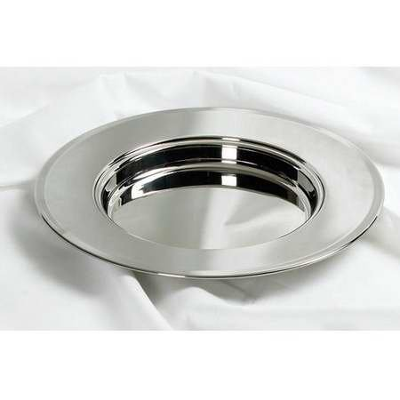 Stainless Steel Bread Plate (serves 40) - Remembranceware (Silver Communion Cup compare prices)