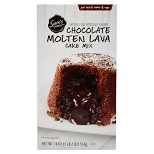 SAM'S CHOICE CHOCOLATE MOLTEN LAVA CAKE MIX (Mix Lava Cake)