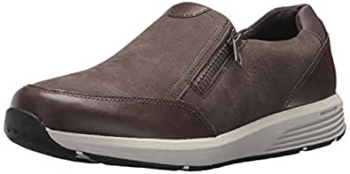 ROCKPORT Women's Trustride W Side Zip Fashion Sneaker, Dark Grey, 5 M US