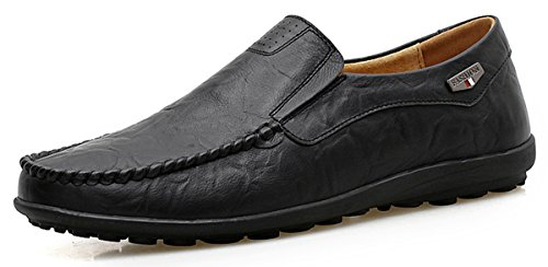 Shinysky Genuine Leather Loafers Driving