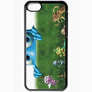 Personalized iPhone 5C Cell phone Case/Cover Skin A bugs life movies Black