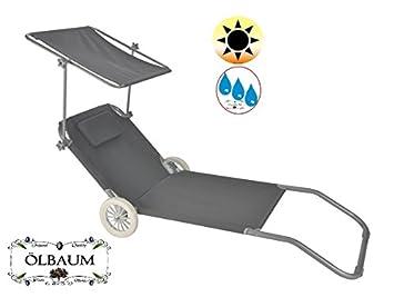 Mojawo Hochwertige Gartenliege Sonnenliege Relaxliege Liege Aluminium Mit  Dach Gepolstert Klappbar Violett L188xB57cm Mojawo®