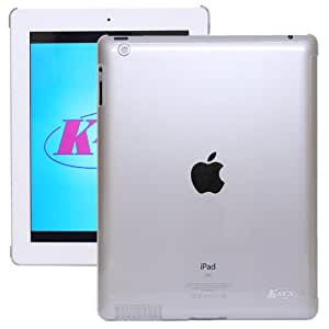 KaysCase Smart Solution Hard Shell Smart Cover Compatible Back Cover Case for Apple iPad 3 3rd Generation - The New iPad (Clear)