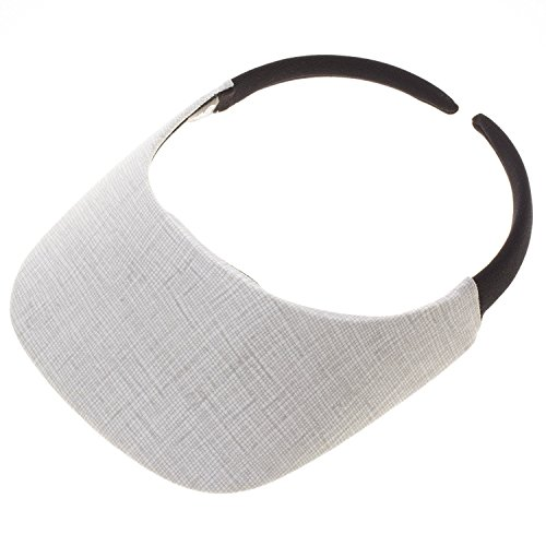 No Headache Original Size Print Sport Sun Visor (Arc Grey) (Sun Arc)