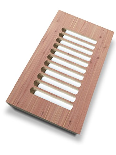 """Unfinished CEDAR plywood vent cover duct opening size 8""""W..."""