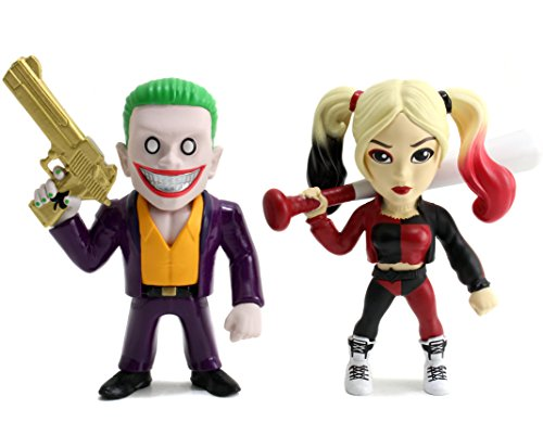 Metals Suicide Squad 4 inch Movie Twin Pack -Joker B & Harley Q (M23)