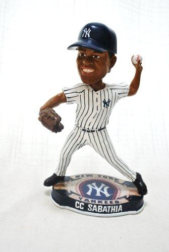 New York Yankees 2012 Official MLB #52 CC Sabathia Team Logo base action Bobble Head