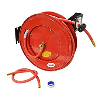 50 Foot Air Compressor Air Hose Retriever Hose Reel For 3
