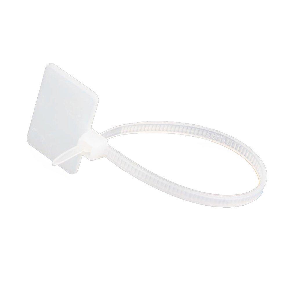 ホームMartプラスチック価格タグファスナースナップロックピンセキュリティループループホワイト100個 B077S4S2T2