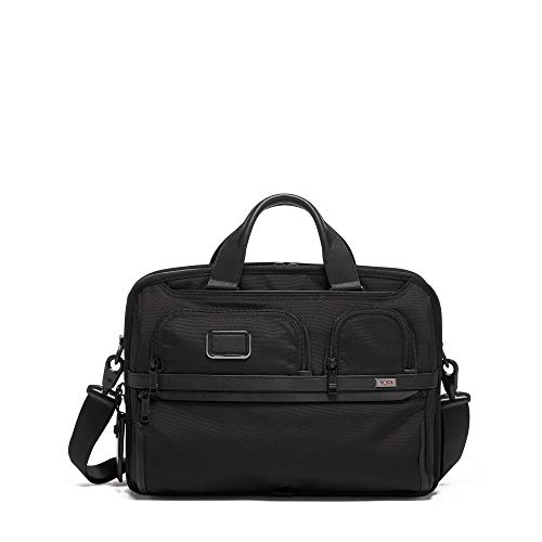 (TUMI - Alpha 3 T-Pass Medium Screen Laptop Slim Brief Briefcase - 14 Inch Computer Bag for Men and Women - Black)
