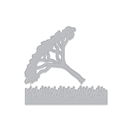 Hero Arts Thorn Tree and Grasses Fancy Die (E) Paper Cut (DI399) by Hero Arts