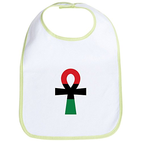 CafePress - Red, Black & Green Ankh - Cute Cloth Baby Bib, Toddler (Old School Baby Clothes)