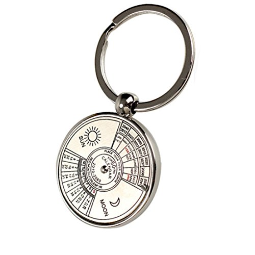 1 Pc Superior Popular Keychain Key Chain Ring Perpetual 50 Years Keyring Gift Color Silver