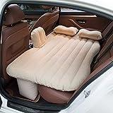 YunZyun Inflatable Car Air Mattress Travel Air Bed Car Back Seat Air Mattress for Car Travel (Beige)