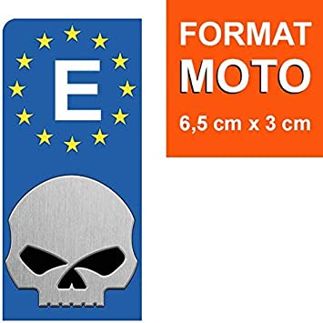 DECO-IDEES 1 Pegatina de la matrícula Moto, Espana, 1 Sticker pour ...