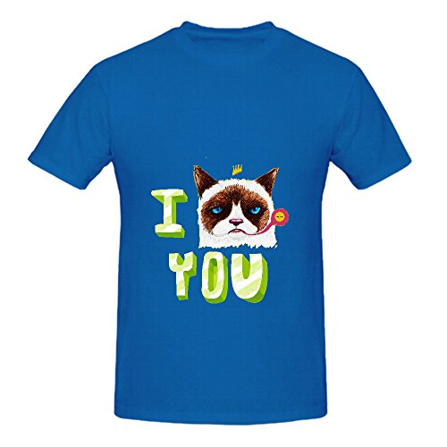 I Gc You Men T Shirts Round Neck With Sayings Blue (Party City Bay Plaza)