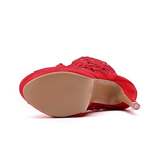BalaMasa EU Femme Rouge Bout Ouvert Red 36 5 Tw6xTnW