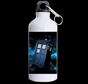 Good_quality Custom Doctor Who TARDIS Space Sports Water Bottle Travel Mug - 13.5 OZ Two Sides Print