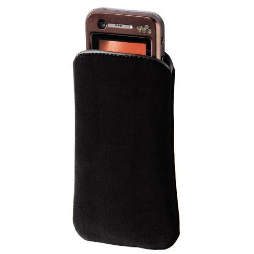 Hama Velvet Pouch Handy Hülle schwarz