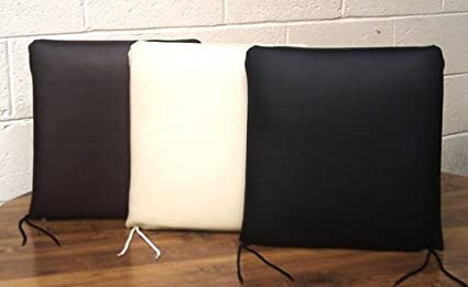 Remarkable Zippy Twin Pack Faux Leather Dining Chair Cushion Seat Pad Wipe Clean Brown Beatyapartments Chair Design Images Beatyapartmentscom