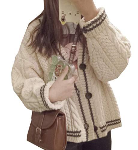 (グードコ) カーディガン レディース ニット ケーブル編み ニット ジャケット ショート ゆったり ざっくり ゆったり シンプル 原宿風